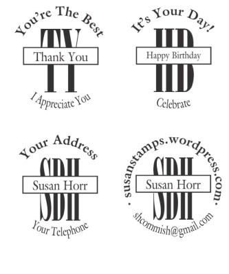 New Monogram Stamp