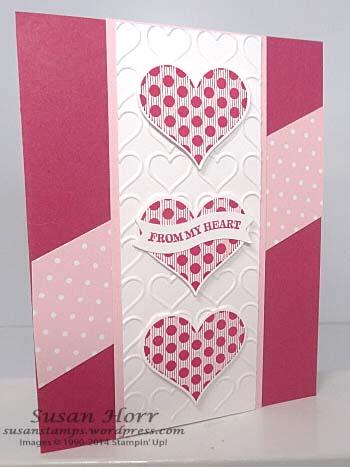 Groovy Love, Happy Hearts Embossing Folder