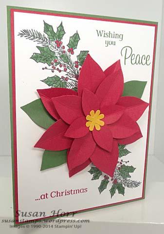 Peaceful Wreath, Festive Flower Punch, WWC40
