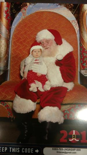 Madelyn & Santa