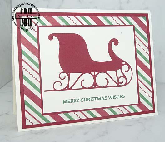 Santas Sleigh, Stampin Up, Christmas Cards, susanstamps.wordpress.com