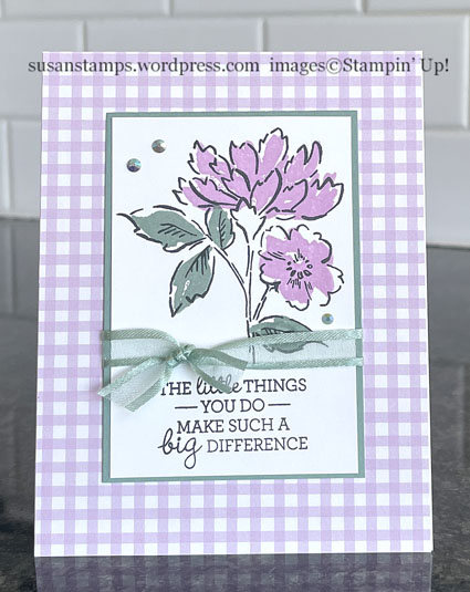 Stampin Hand Penned Petals