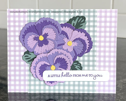 Stampin Up Pansy Patch