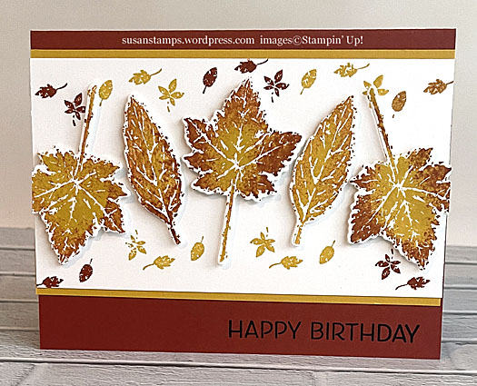 Stampin Up Gorgeous Leaves